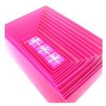 Kit 15 Caixas Rosa Pink com Glitter