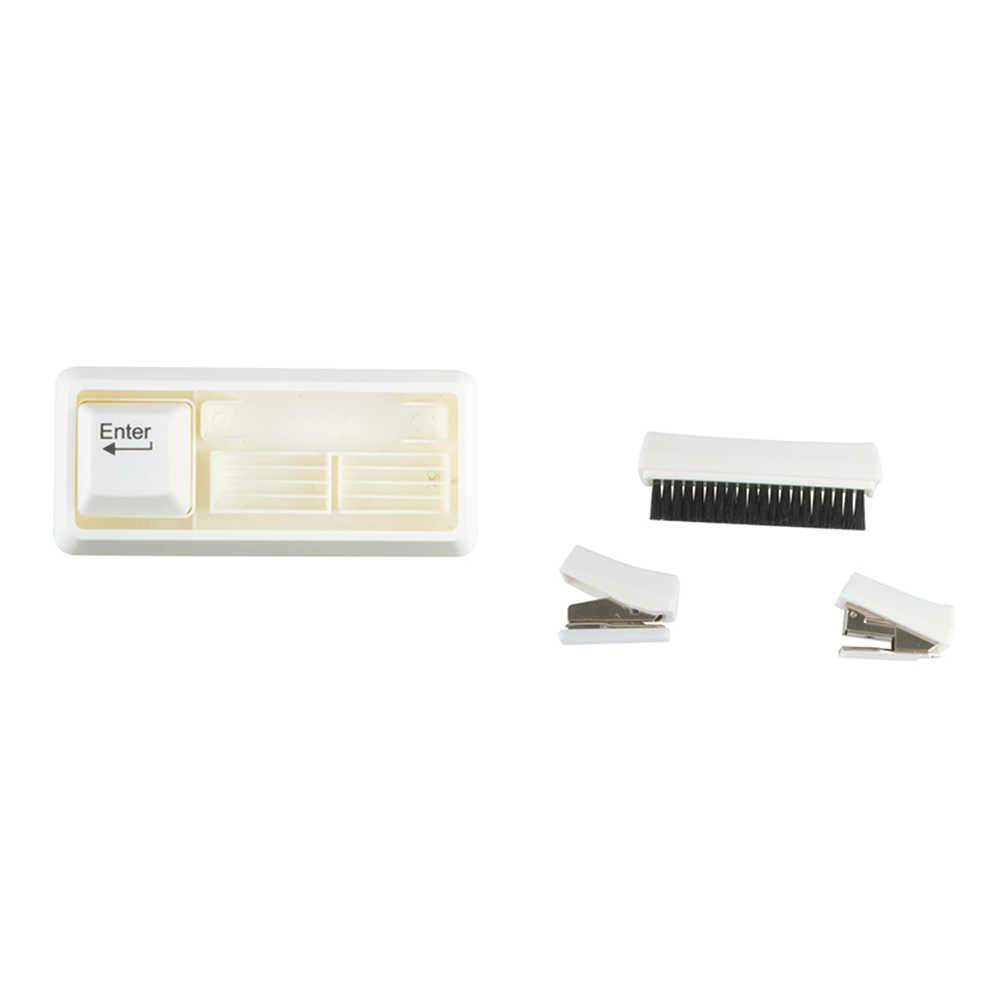 Kit 4 Peças para Escritório Teclado de Computador Branco - Urban - 18x7 cm