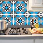 Kit Papel de Parede para Azulejo - 28x28 cm - Azul e Cinza