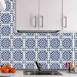 Kit Papel de Parede para Azulejo - 25 Peças 20x20 cm - Azul