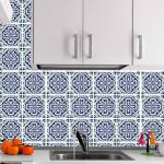 Kit Papel de Parede para Azulejo - 49 Peças 15x15 cm - Azul