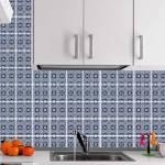 Kit Papel de Parede para Azulejo - 10x10 cm - Tons de Azul