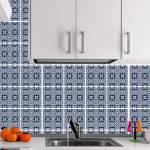 Kit Papel de Parede para Azulejo - 15x15 cm - Tons de Azul