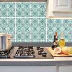 Kit Papel de Parede para Azulejo - 20x20 cm - Azul e Verde