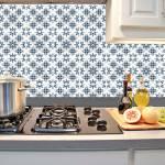 Kit Papel de Parede para Azulejo - 15x15 cm - Azul e Cinza