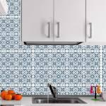 Kit Papel de Parede para Azulejo - 20x20 cm - Azul e Branco