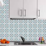 Kit Papel de Parede para Azulejo - 10x10 cm - Azul e Marrom