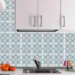 Kit Papel de Parede para Azulejo - 15x15 cm - Azul e Marrom