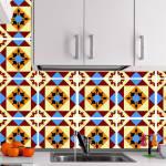 Kit Papel de Parede para Azulejo - 28x28 cm - Multicolorido