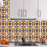 Kit Papel de Parede para Azulejo - 15x15 cm - Multicolorido