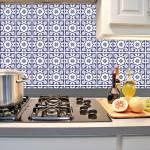 Kit Papel de Parede para Azulejo - 10x10 cm - Azul e Branco