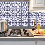 Kit Papel de Parede para Azulejo - 15x15 cm - Azul e Branco