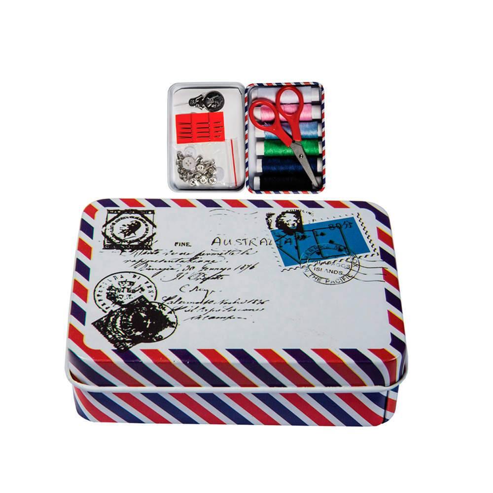 Kit de Costura Letter com 22 peças Coloridas em Metal - Urban - 9,5x7 cm