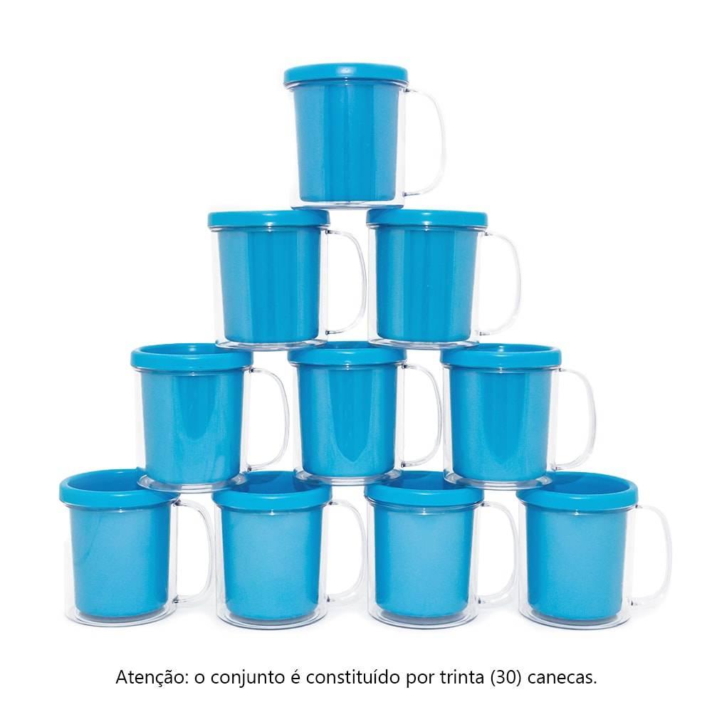 Kit Festa Infantil - Canecas Azuis - 30 Peças - 10x9 cm
