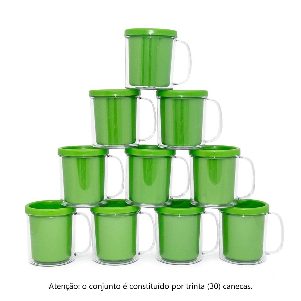 Kit Festa Infantil - Canecas Verdes - 30 Peças - 10x9 cm