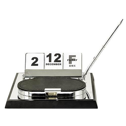Kit Organizador Caneta/Calendário Espelhado Goldway - 22x22 cm