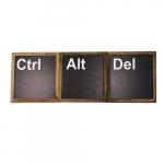 Kit quadros CTRL + ALT + DEL