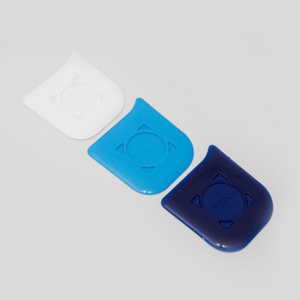Kit Removedores de Resíduos Raspatudo Azul e Branco - 3 Peças - 7x6 cm