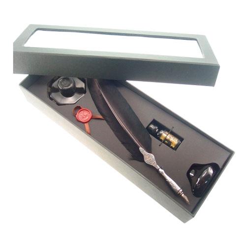 Kit Tinteiro Preto em Metal - 36x13 cm