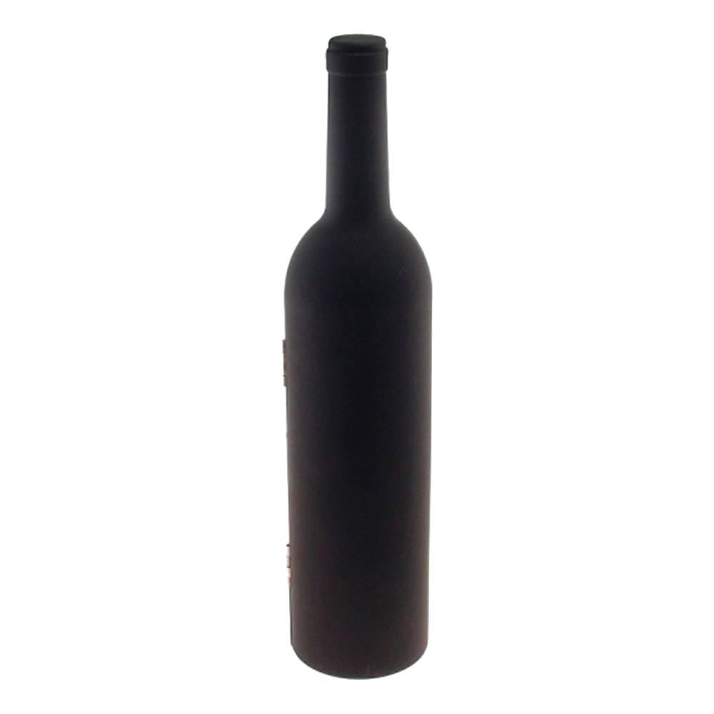 Kit para Vinho Garrafa - 5 Peças - Grande Preto - 33x8 cm