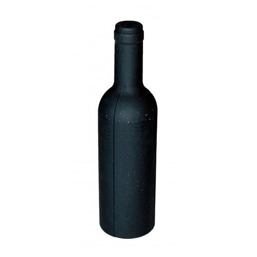 Kit para Vinho Saca-Rolhas - 2 Peças - Preto em Metal - 23x7 cm