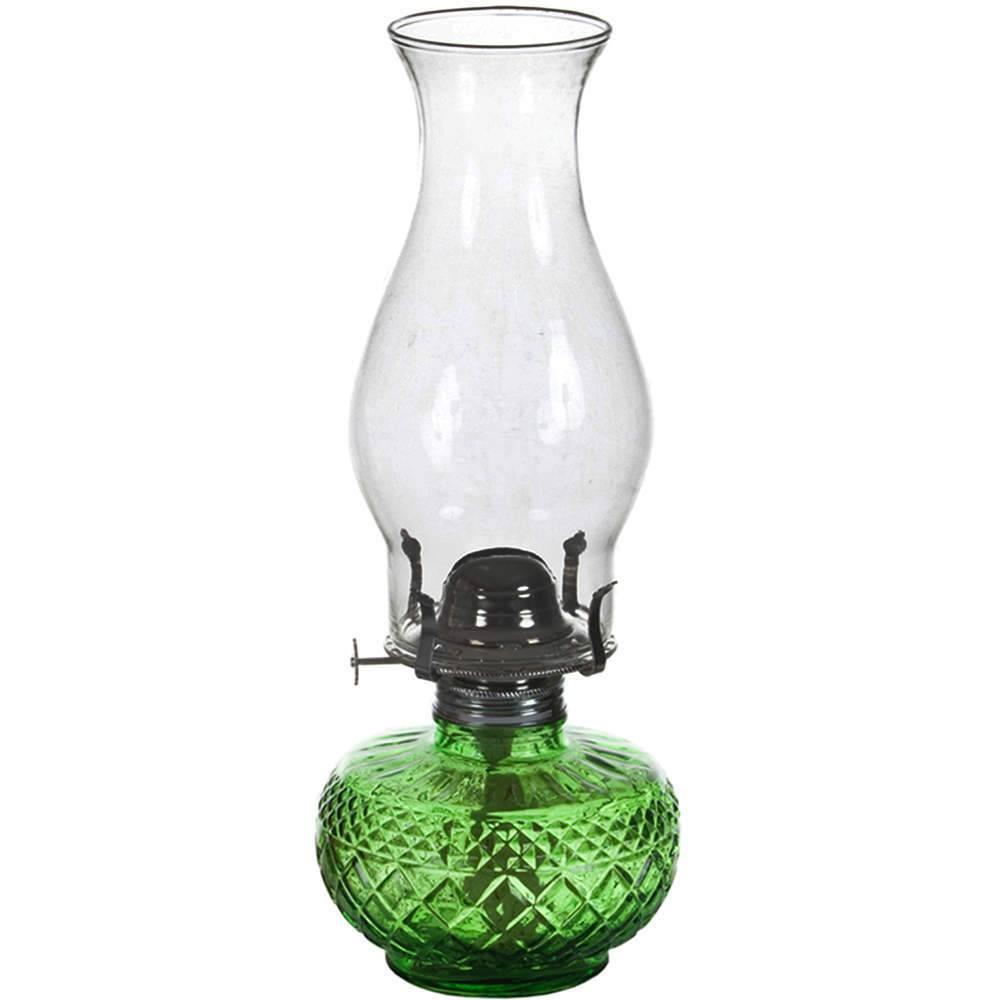 Lamparina Charmed Verde a Óleo em Vidro - Urban - 33x12 cm