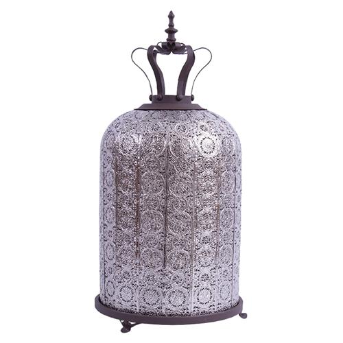 Lanterna Bali Vazado em Metal - 57x25 cm