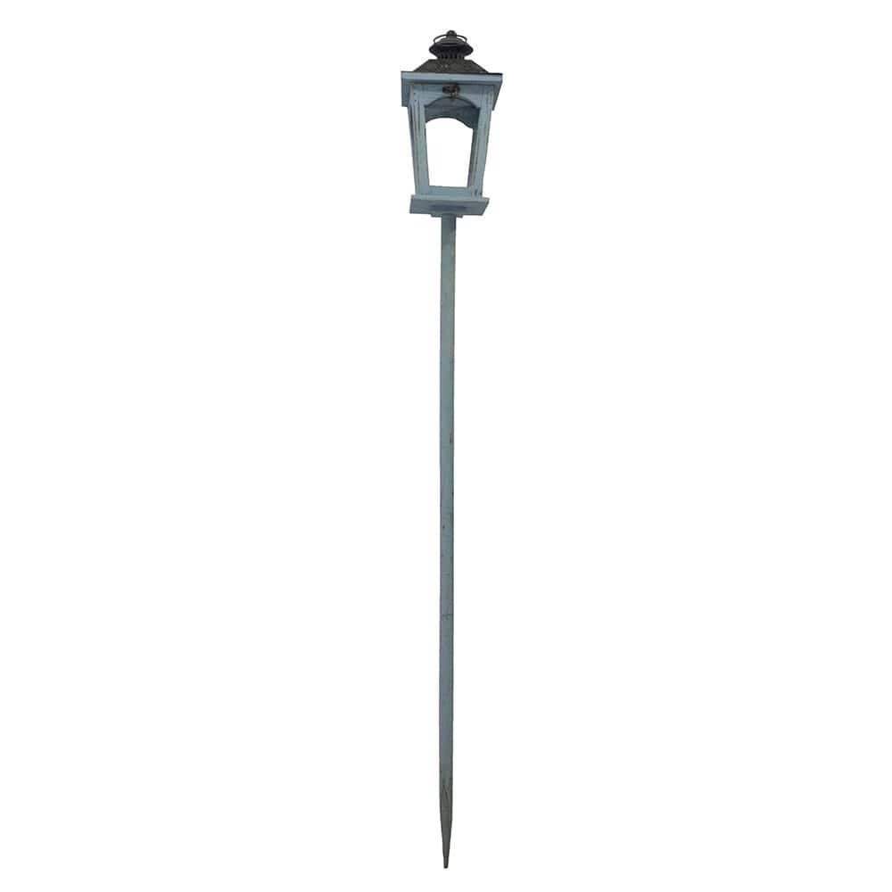 Lanterna de Chão Azul/Preta Oldway em Madeira - 141x17 cm