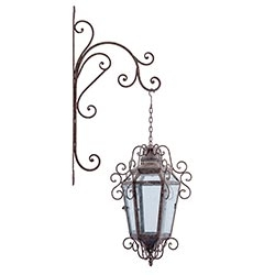 Lanterna Clássica c/ Suporte Oldway