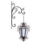 Lanterna Clássica c/ Suporte Oldway - 50x29 cm