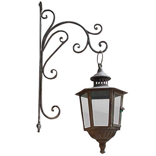 Lanterna Clássica de Parede com Suporte Oldway - 38x55 cm