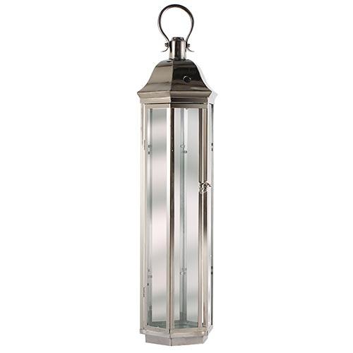 Lanterna Cromada Hexagonal Fullway - 78x23 cm