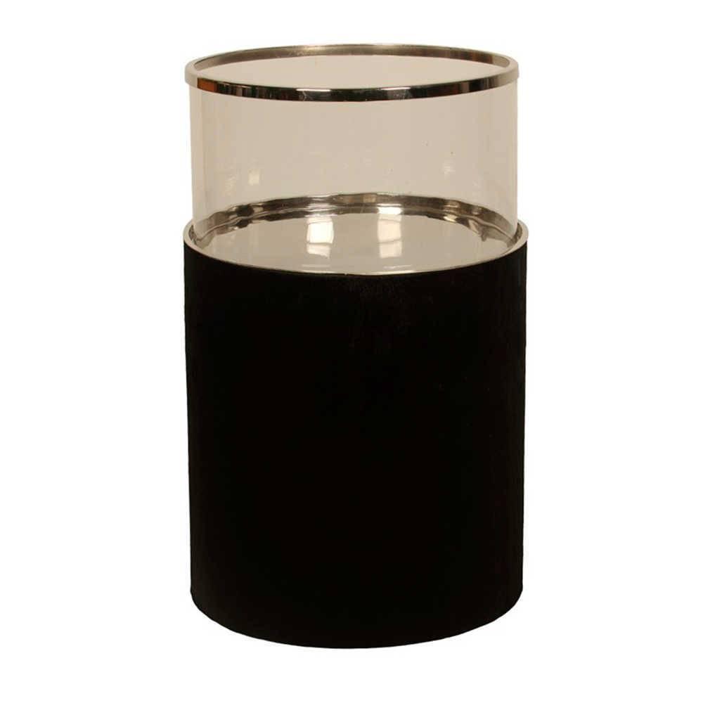 Lanterna Decorativa Hairon Grande em Aço Inox e Vidro - 51x31 cm