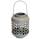 Lanterna Decorativa Quartzo em Metal - 27x13 cm