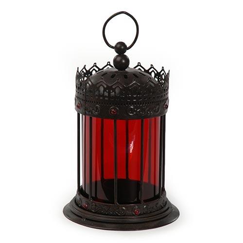 Lanterna Enya Vermelho em Metal - 19x11 cm