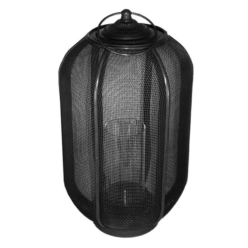 Lanterna Grande Marroquina Ballon Classic Preta em Metal - Urban - 45x25,5 cm