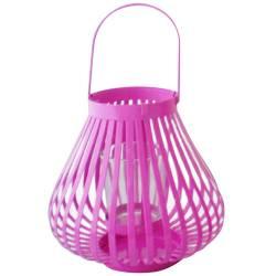 Lanterna Grande Marroquina Mini Basket Trigonal Rosa - Urban