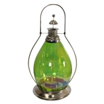 Lanterna Indiana Classic Green em Metal - 48x33 cm