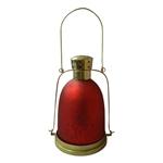 Lanterna Indiana Dome Burgandi em Metal