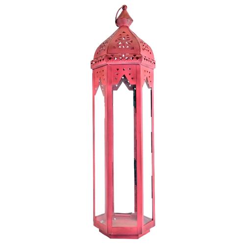 Lanterna Kashmir Grande em Metal - 67x16 cm