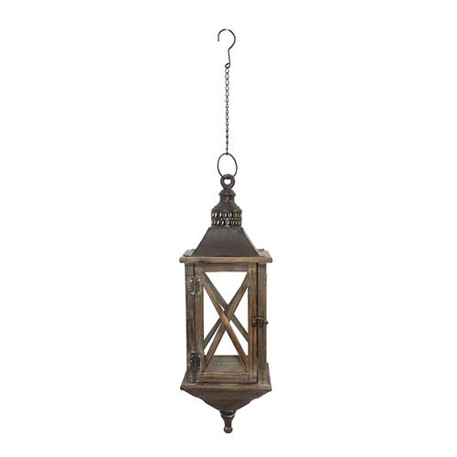 Lanterna Marrom de Pendurar Oldway - 55x18 cm