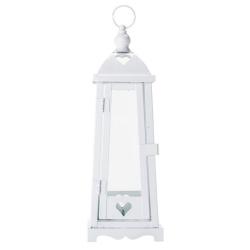 Lanterna Marroquina Heart Branca em Metal - 29x10 cm R$ 249,80 R$ 169,80 3x de R$ 56,60 sem juros