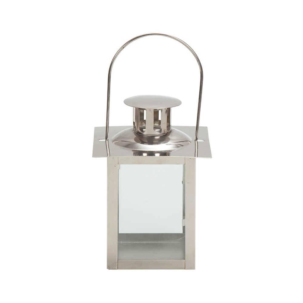 Lanterna Marroquina Cubix Chrome com Tampa em Metal - Urban - 16x12 cm