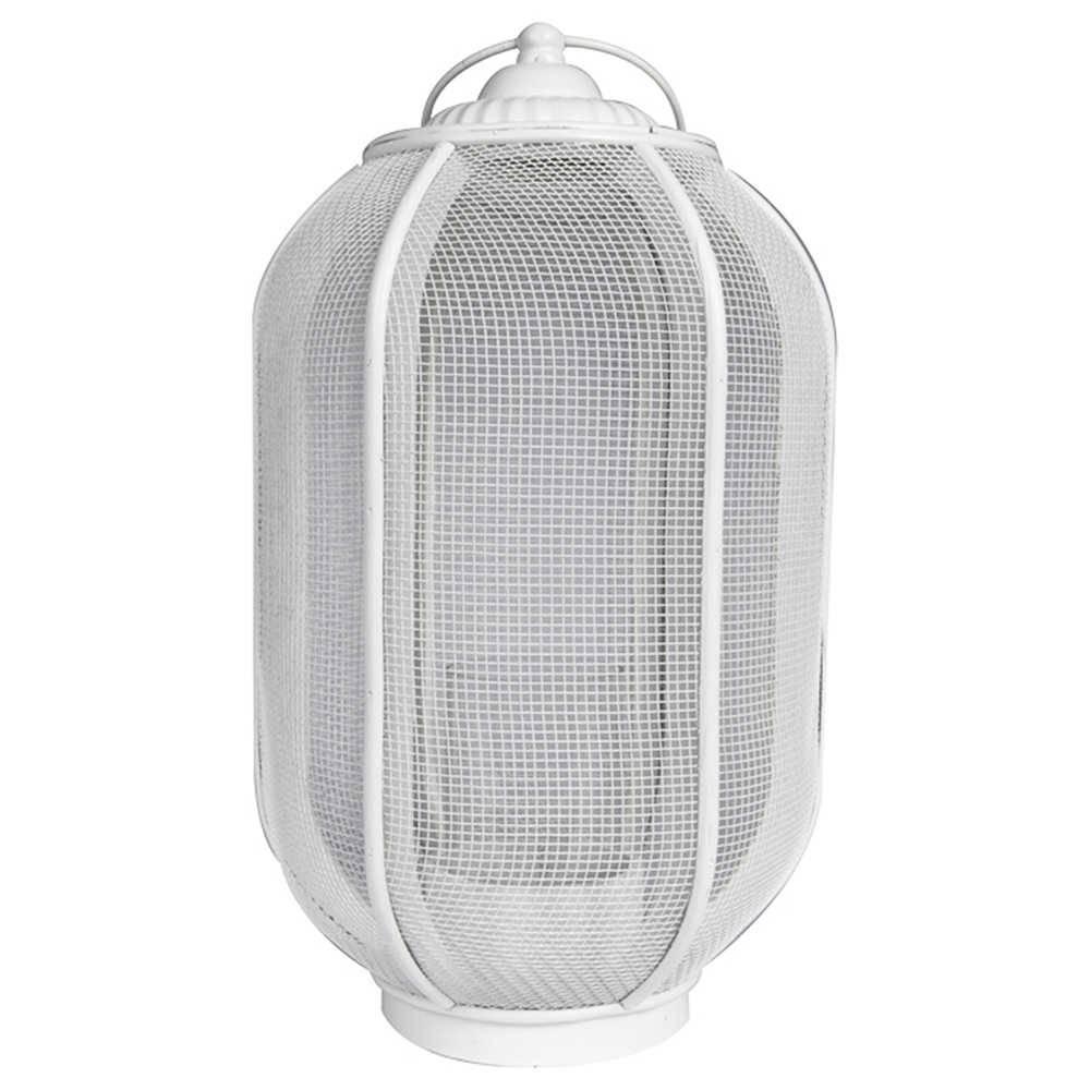 Lanterna Marroquina Grande Ballon Classic Branco em Metal - Urban - 46x24 cm