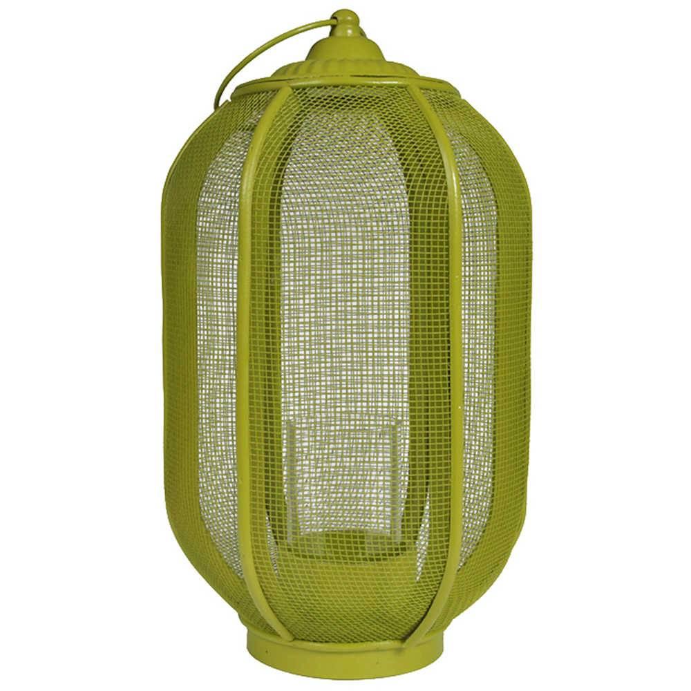 Lanterna Marroquina Grande Ballon Classic Verde em Metal - Urban - 48x24 cm
