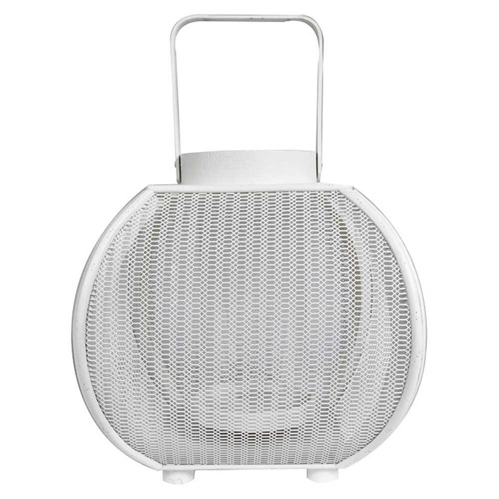 Lanterna Marroquina Grande Fisherman Branca em Metal - Urban - 26x24 cm