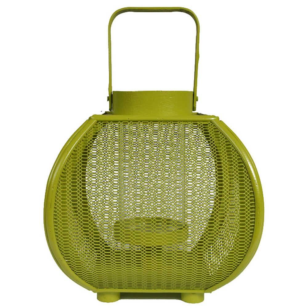 Lanterna Marroquina Grande Fisherman Verde em Metal - Urban - 27x24 cm