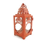 Lanterna Marroquina Henna Vermelha