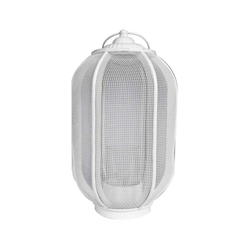 Lanterna Marroquina Média Ballon Classic Branco em Metal - Urban - 38x20 cm