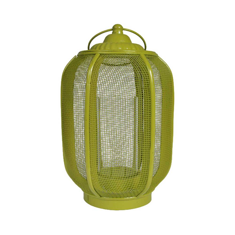 Lanterna Marroquina Média Ballon Classic Verde em Metal - Urban - 40x20 cm